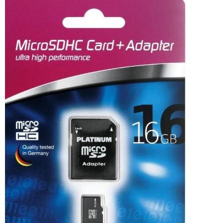 MEMORIA PLATINUM MICRO SD HC 16GB