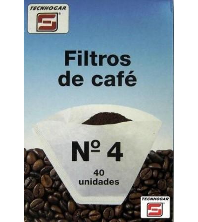 PAE CAFETERA TECNHOGAR FILTRO PAPEL 1X4   40 UN