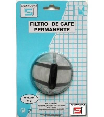 PAE CAFETERA TECNHOGAR FILTRO PERMANENTE NYLON N 2