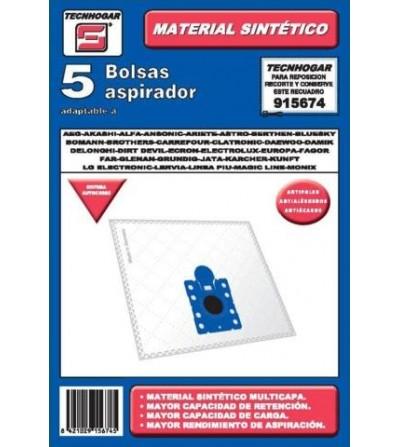 ASPIRADOR BOLSA TECNHOGAR SINTETICA AEG ARIETE BOMANN BLUESKY CARR