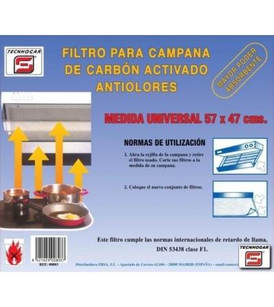 FILTRO TECNHOGAR CARBON ACTIVADO 60 CM