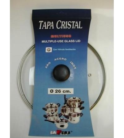 TECNHOGAR CRISTAL 26 CM  INOX C  VALVULA