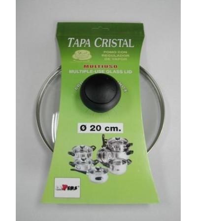 TAPA TECNHOGAR CRISTAL INOX 20 CM