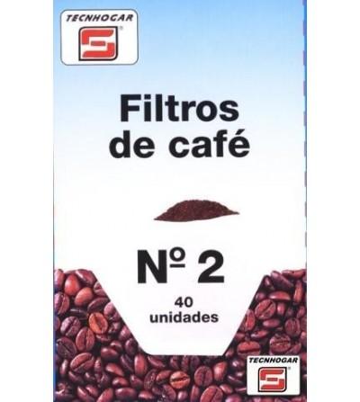 CAFETERA TECNHOGAR FILTRO PAPEL 1X2 40 UN